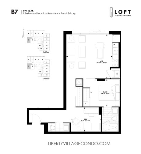 1 bedroom loft floor plans q lofts 1205 queen st w liberty village condo