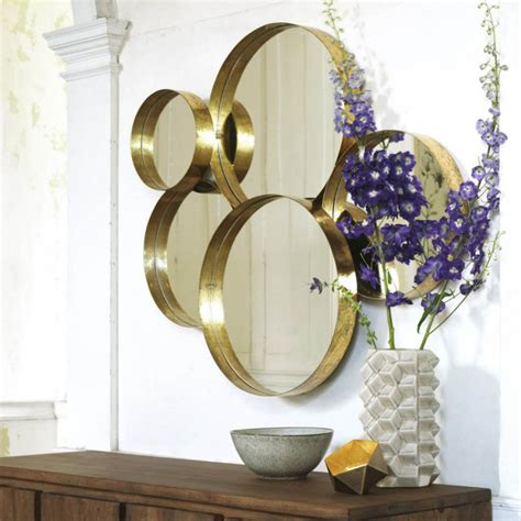 gold lamour round mirror mirrors graham and green