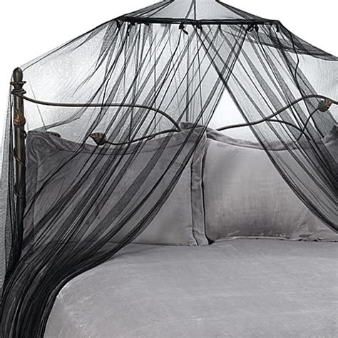 black canopy beds siam bed canopy and mosquito net in black bed bath beyond