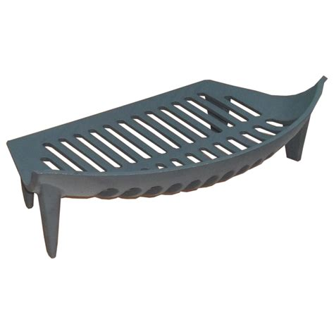 black cast iron bow fronted grate to fit 18 inch