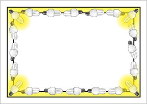 light border light bulb themed a4 page borders sb5741 sparklebox