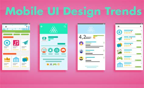 ui design trends for 2017 ultimate mobile ui design trends predictions for 2017