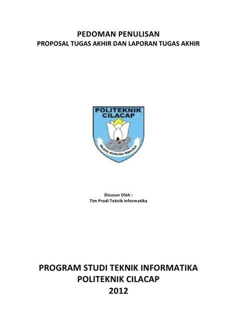 format proposal judul tugas akhir pedoman usulan proposal ta dan laporan tugas akhir