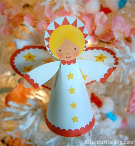 printable christmas angel ornaments starry christmas angels a sweet paper printable to make
