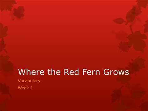 themes in the book where the red fern grows literary analysis of where the red fern grows