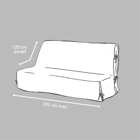 canapé bz 120 cm housse de clic clac dozer noir et blanc housse de clic