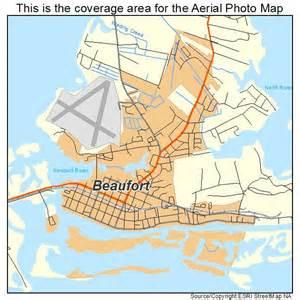 aerial photography map of beaufort nc carolina