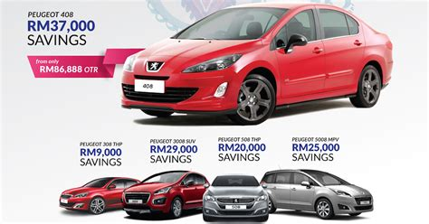 peugeot ad ad get savings of up to rm37 000 on a new peugeot
