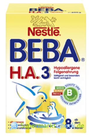beba ha 1 ab wann nestle beba h a 3 hypoallergene folgenahrung ab dem 8