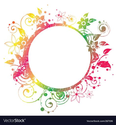 roundhouse stock images royalty free images vectors floral round frame 2 v royalty free vector image