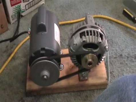 Electric Generator In Car Engine Crossword Maxflow 3 Phase Alternator Mounted With 1 2 Hp Electric