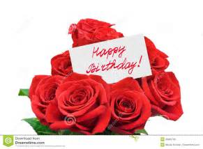roses and card happy birthday stock photos image 35983733