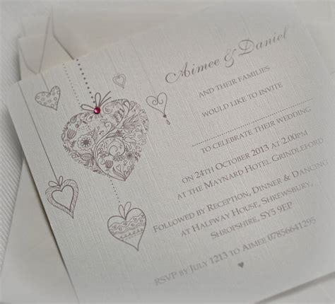 Personalised Wedding Invitations by Hearts Personalised Wedding Invitations By Beautiful Day