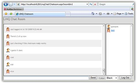 tutorial website chat build a web chat application using asp net 3 5 linq and