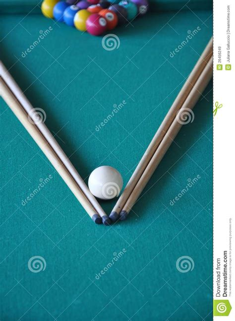 Pool Table Sticks by Pool Table Sticks And Balls Royalty Free Stock Images