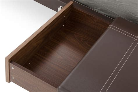 domus ria contemporary brown eco leather stainless