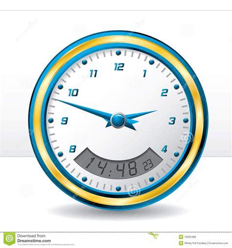 analog and digital wall clock analog and digital wall clock stock vector illustration