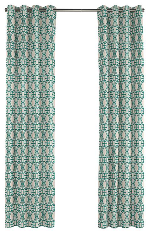 modern teal curtains modern teal blue trellis grommet curtain contemporary