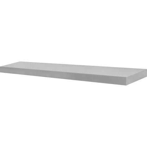 Silver Wall Shelf by 35 5 Inch Floating Wall Shelf In Wall Mounted Shelves