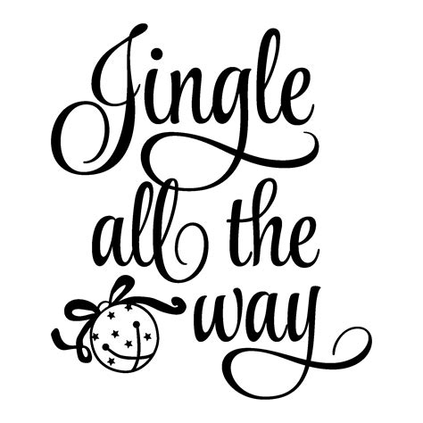 Free Kitchen Embroidery Designs by Jingle All The Way Wall Quotes Decal Wallquotes Com
