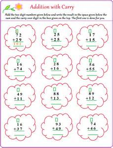 carrying addition worksheets addition no regrouping free