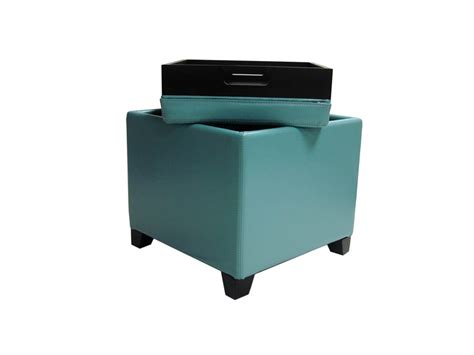 Modern Storage Ottoman Contemporary Storage Ottoman With Tray Sky Blue Lc530otlesb Decor South