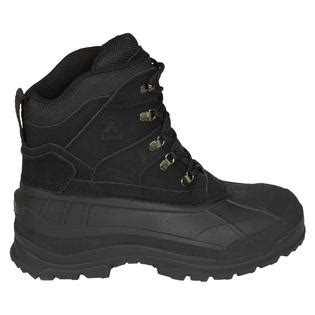 sears mens snow boots kamik s fargo winter boot black shoes mens boots