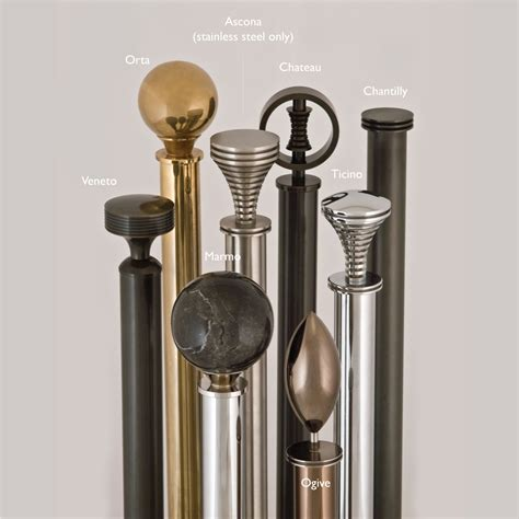 curtain pole curtain pole finials for metallic collection 30mm jago