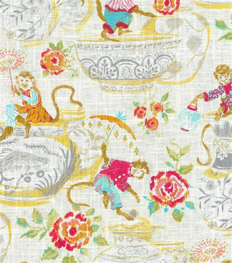 Monkey Upholstery Fabric by Dena Upholstery Fabric Monkey Jars Blossom Joann Jo