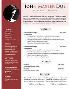 Resume Template In Doc Free Cv Template 681 687 Free Cv Template Dot Org