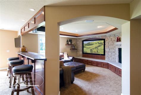 basement tv wall traditional home theater minneapolis finished basement company