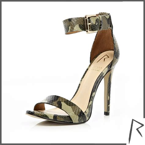 camouflage high heels pop style high heels daily