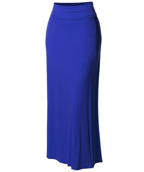 s stylish fold flare maxi skirt made in