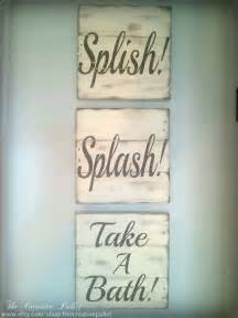 Decorative Bathroom Signs Home Bathroom Sign Vintage Pallet Wood Signs By
