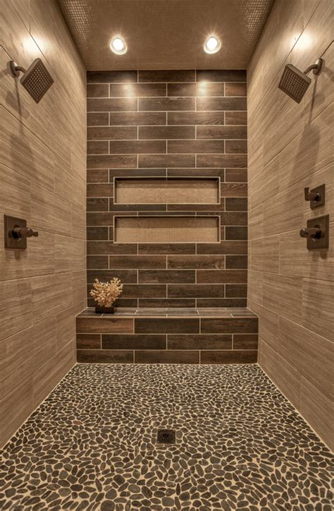 diy bathroom tile ideas wood bathroom shower tile accent wall ideas