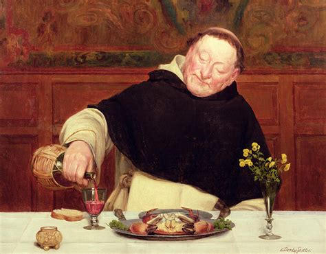 Make Your Own Duvet Cover Online The Monk S Repast Painting By Walter Dendy Sadler