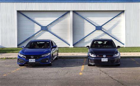 Volkswagen Vs Honda by 2017 Honda Civic Si Vs Volkswagen Gti Comparison Autos Post