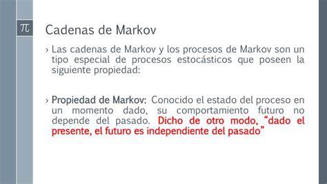 estados de las cadenas de markov ppt cadenas de markov powerpoint presentation id 1993799