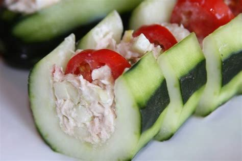 cucumber boat appetizer healthy tuna salad cucumber boat perfect as a healthy
