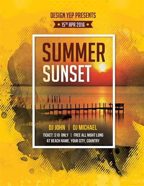 24 amazing psd beach party flyer templates designs free