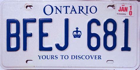 Ontario Vanity Plates ontario 3 y2k