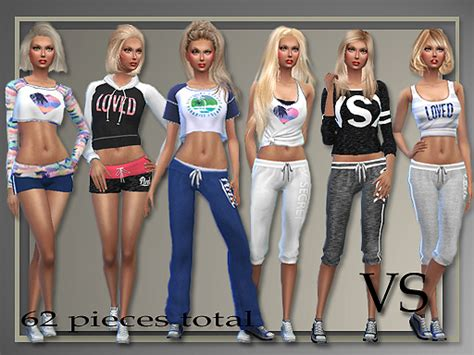 tsr sims 4 clothes sports all about style athletic separates sims 4 downloads