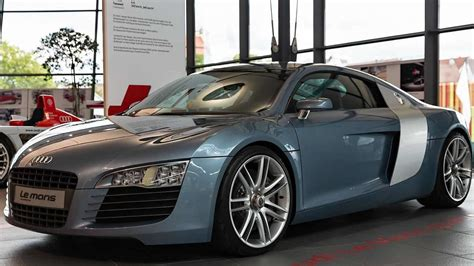 future audi r8 2003 audi le mans quattro concept displayed together with