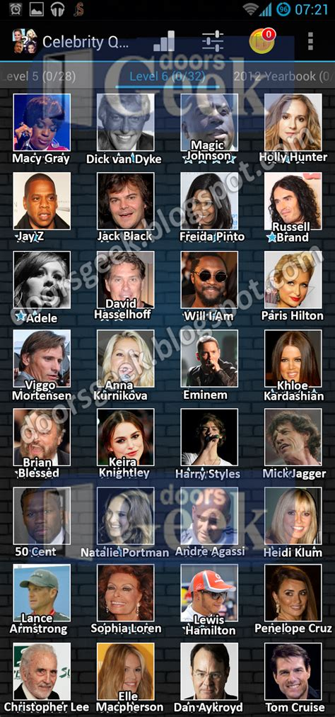 uk celebrities quiz celebrity quiz level 6 doors geek