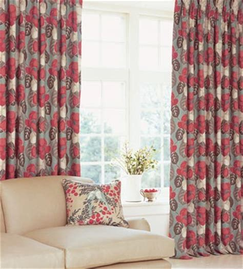 red print curtain panels soft furnishings curtain blinds cushions poles and
