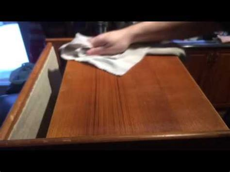 how to remove stains and water marks from teak furniture