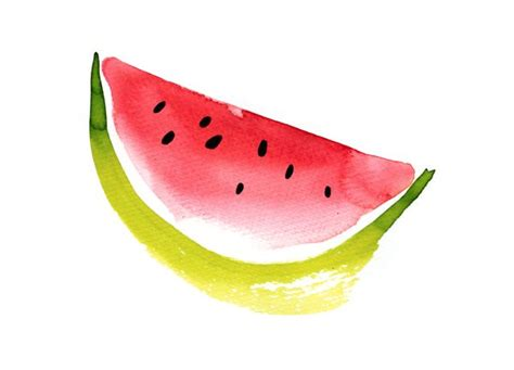 ekaterina koroleva watermelon painting watercolor
