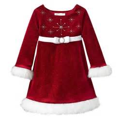 Bonnie baby girls beaded santa christmas dress
