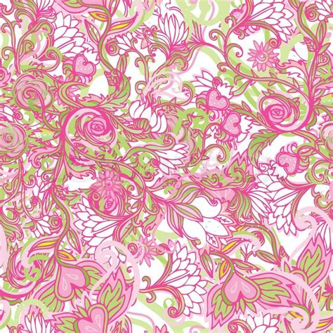 cute pink pattern wallpaper cute pink floral seamless pattern background stock