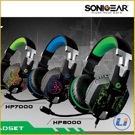 Headsed Gaming X Craft Hp 8000 Usbled jual beli sonic gear gaming headset alcatroz
